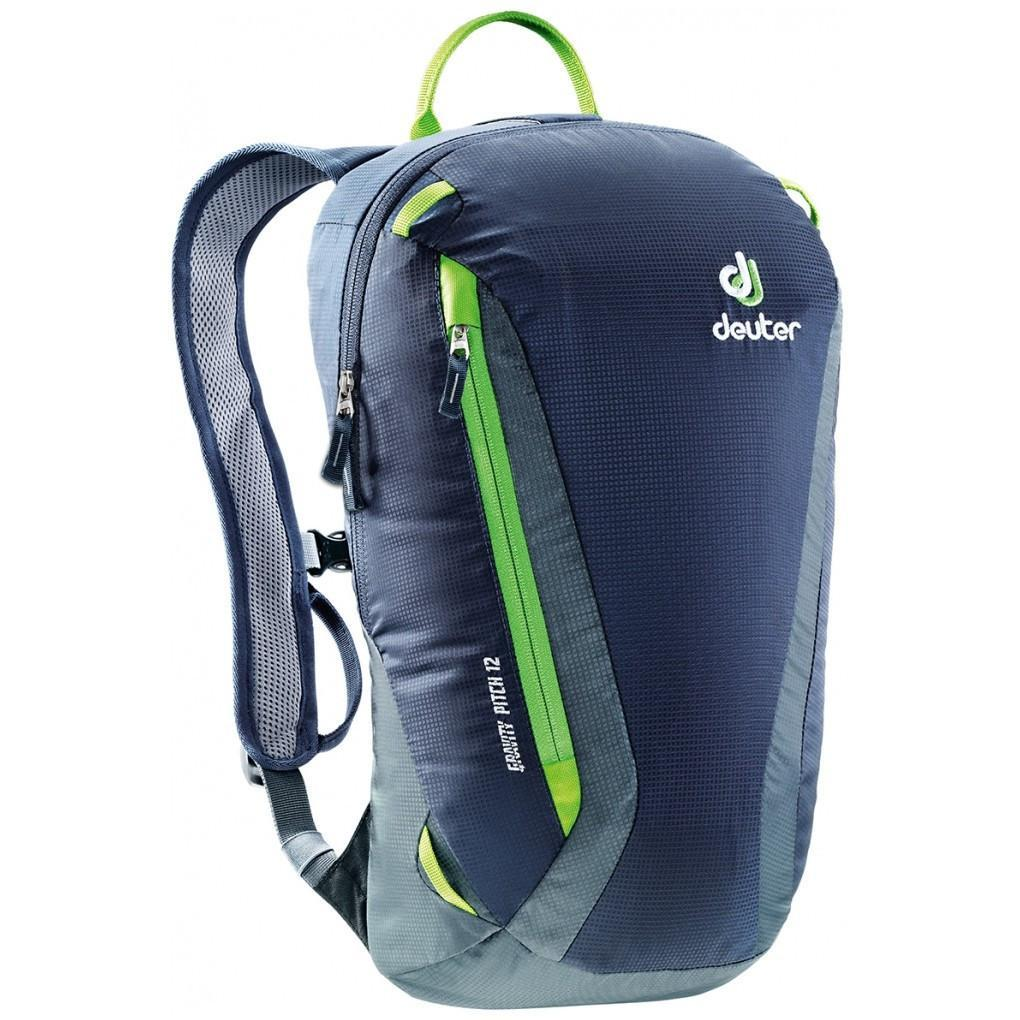 Deuter Gravity Pitch 12 climbing rucksack in black, grey and green colours