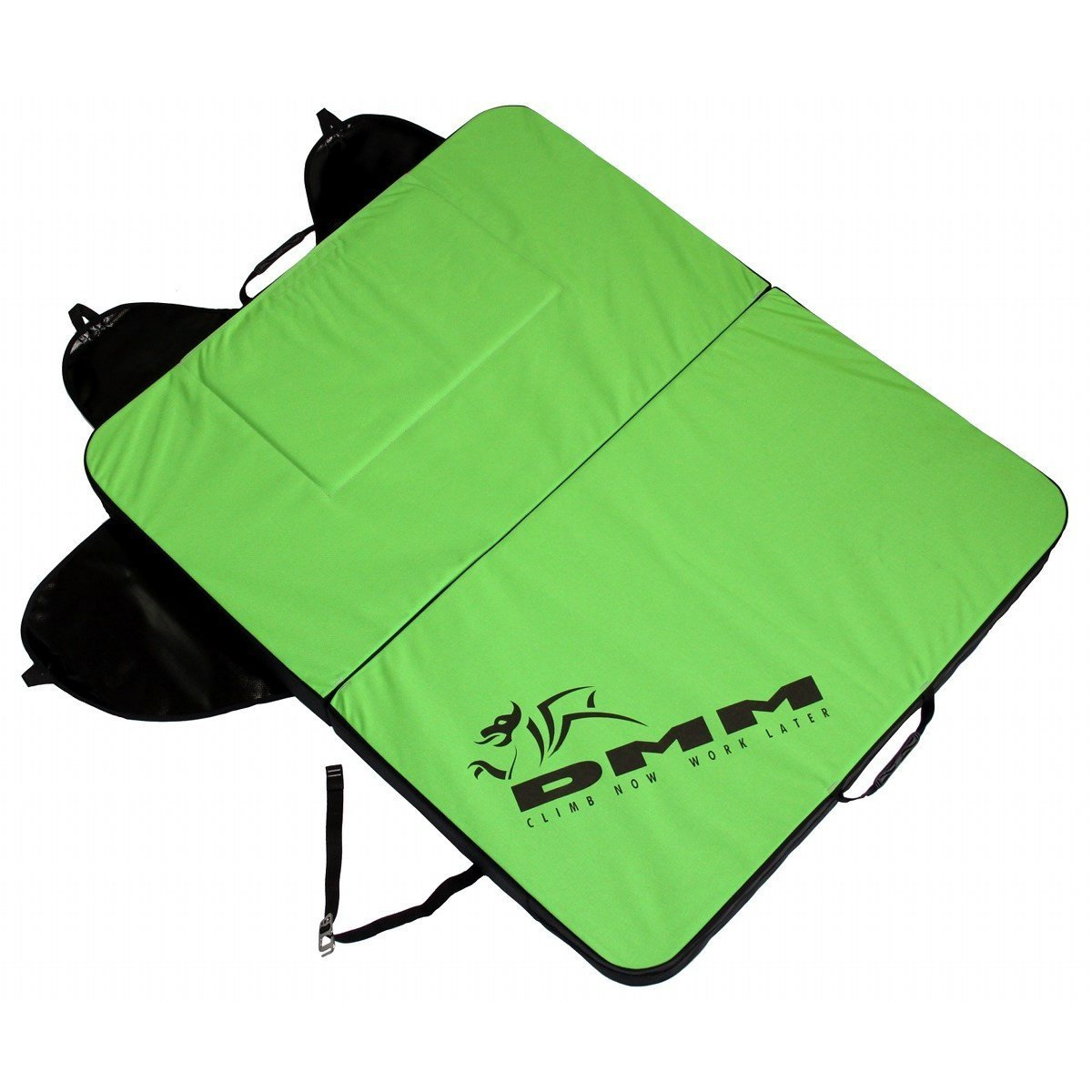 DMM Highball Crash Pad, open view in green