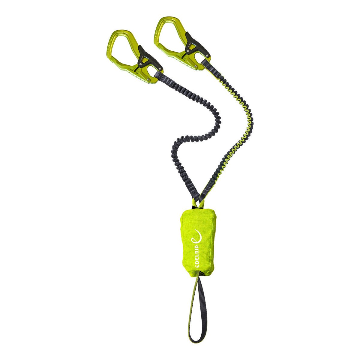 Edelrid Cable Kit 5.0 for via ferrata, in green with two green carabiners