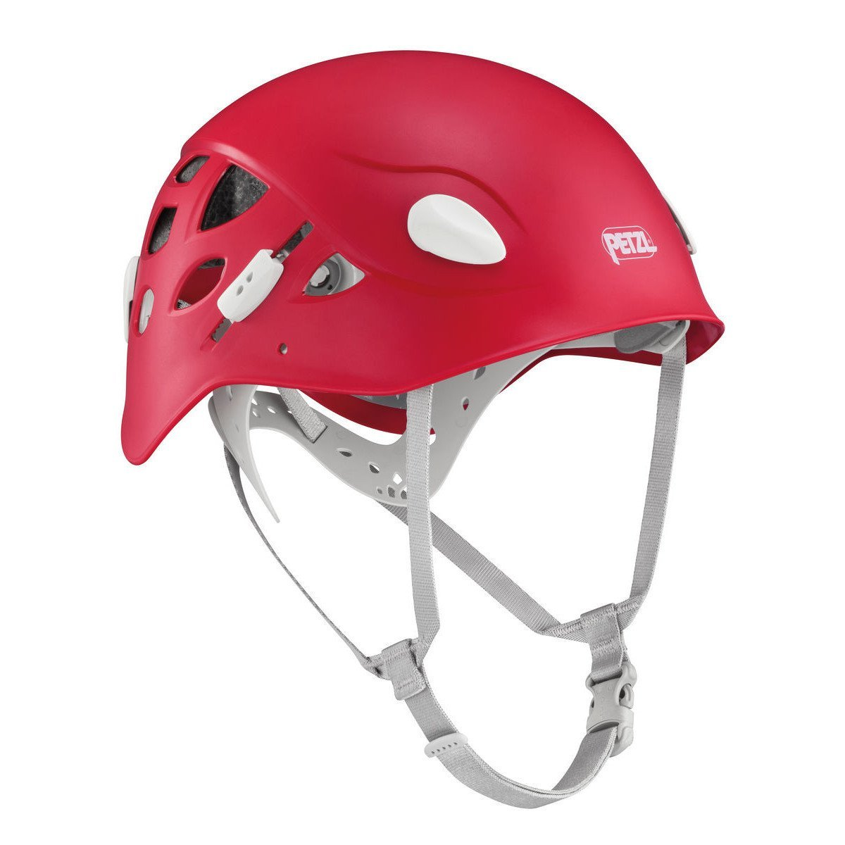 Petzl Elia womens climbing helmet, in red colour