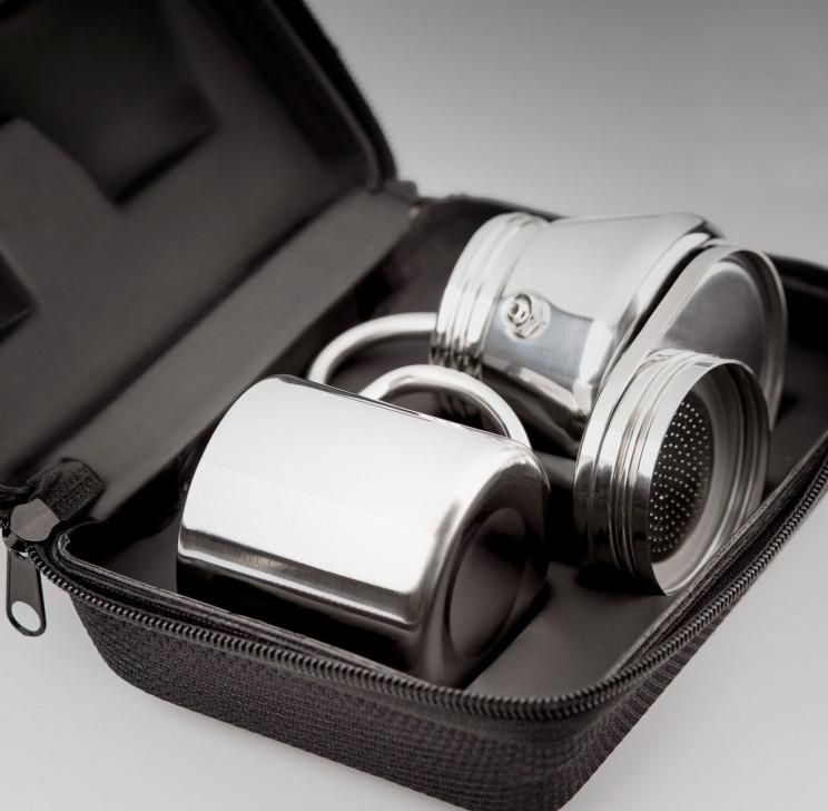GSI Mini Espresso Set 1 Cup shown packed away in the carry case