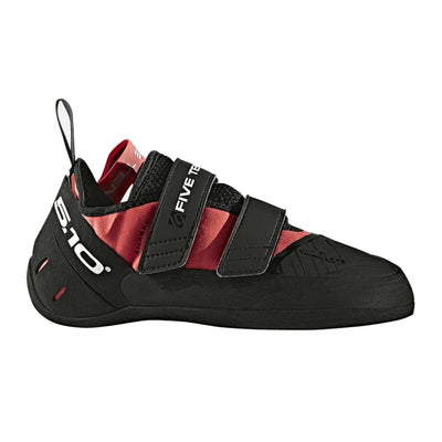 Five Ten Anasazi LV Pro climbing shoe, outer side view in black and pink colours