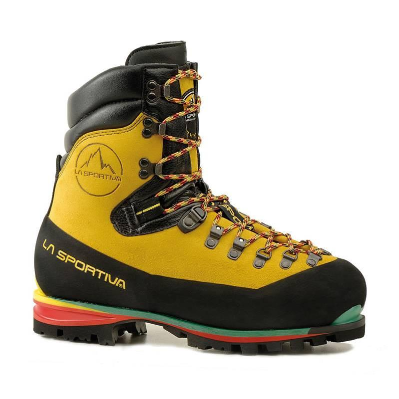 La Sportiva Nepal Extreme mountaineering boot in black, yellow and red colours