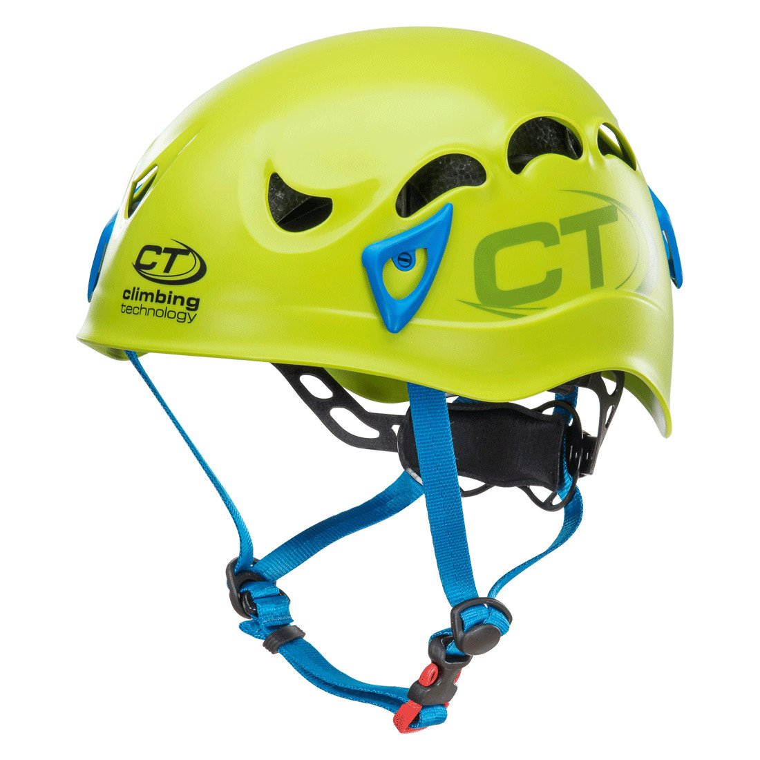 Climbing Technology Galaxy climbing helmet, in green and blue colours