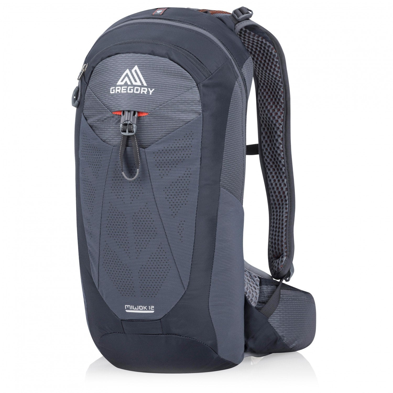 Gregory Miwok 12 backpack, front/side view in blue colours