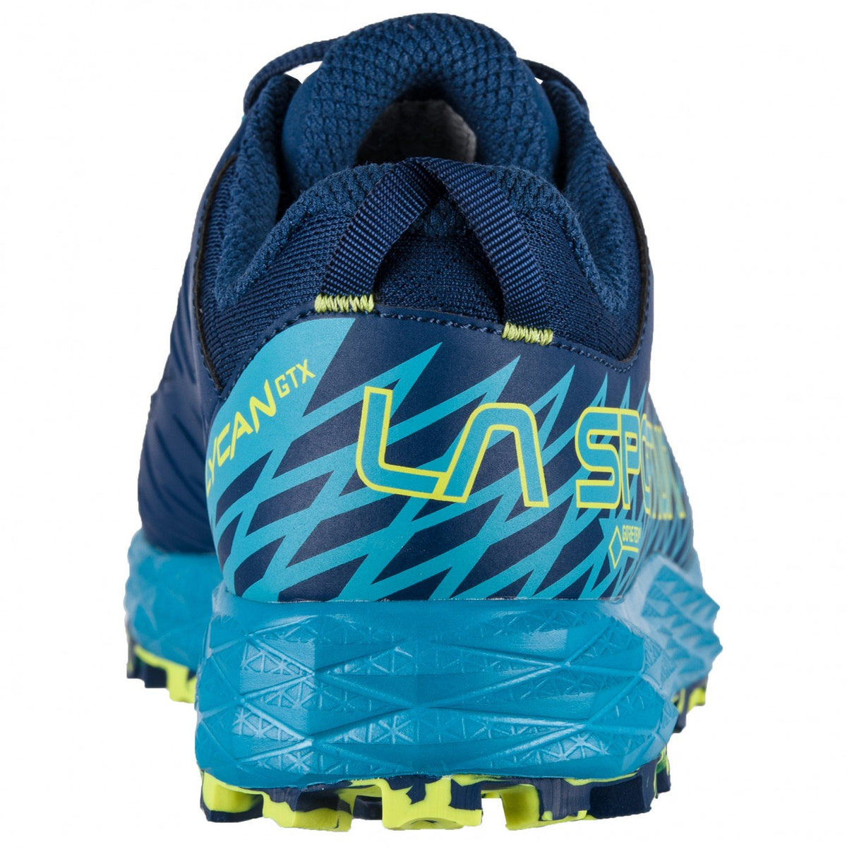 La Sportiva Lycan GTX trail shoe, view of the heel