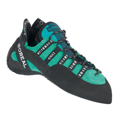 Boreal Lynx Womens climbing shoe, in green and black colours