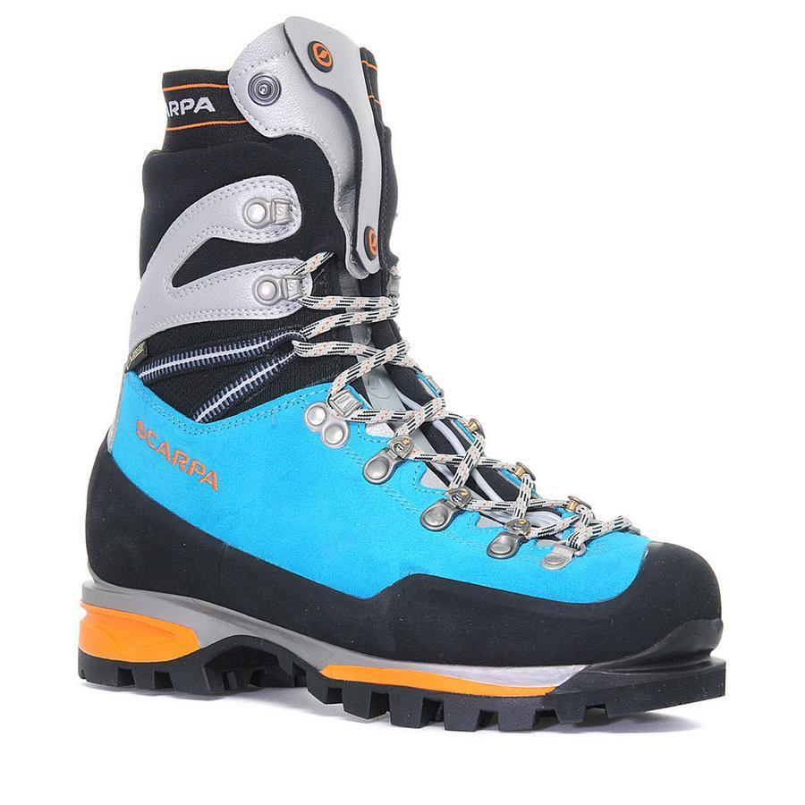Scarpa Mont Blanc Pro GTX Womens Mountaineering Boot, in blue and black colours