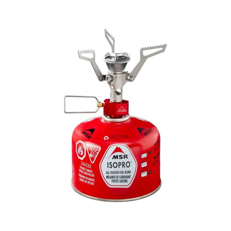 MSR PocketRocket 2 camping stove, front view in red colour