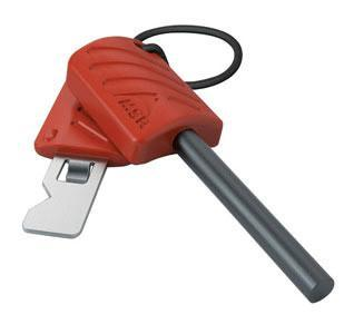 MSR Strike Igniter for lighting camping stoves, in red and silver colours