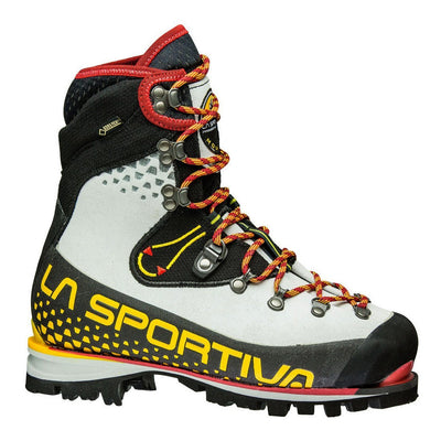 La Sportiva Nepal Cube GTX Womens Mountaineering Boot, in light blue, black and yellow colours