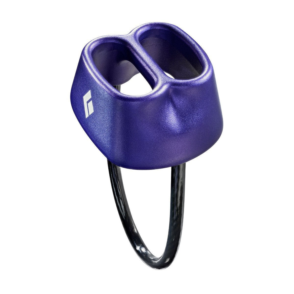 Black Diamond ATC belay device, in purple colour