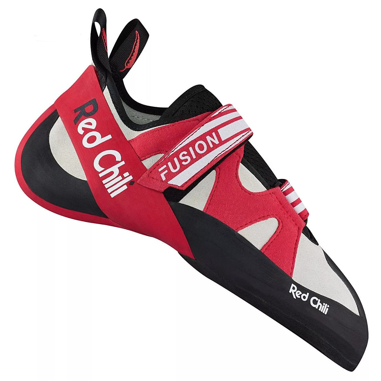 Red Chili Fusion VCR climbing shoe, in black, red and white colours
