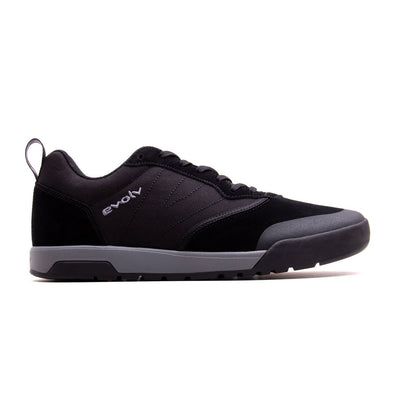 Outer Side view of Evolv Rebel approach shoe in black