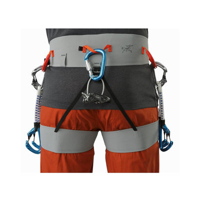 ArcTeryx SL340 Harness shown on model, view of the rear