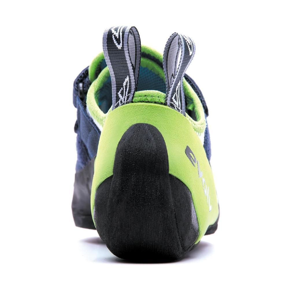 Evolv Supra climbing shoe, view from the rear showing the heel