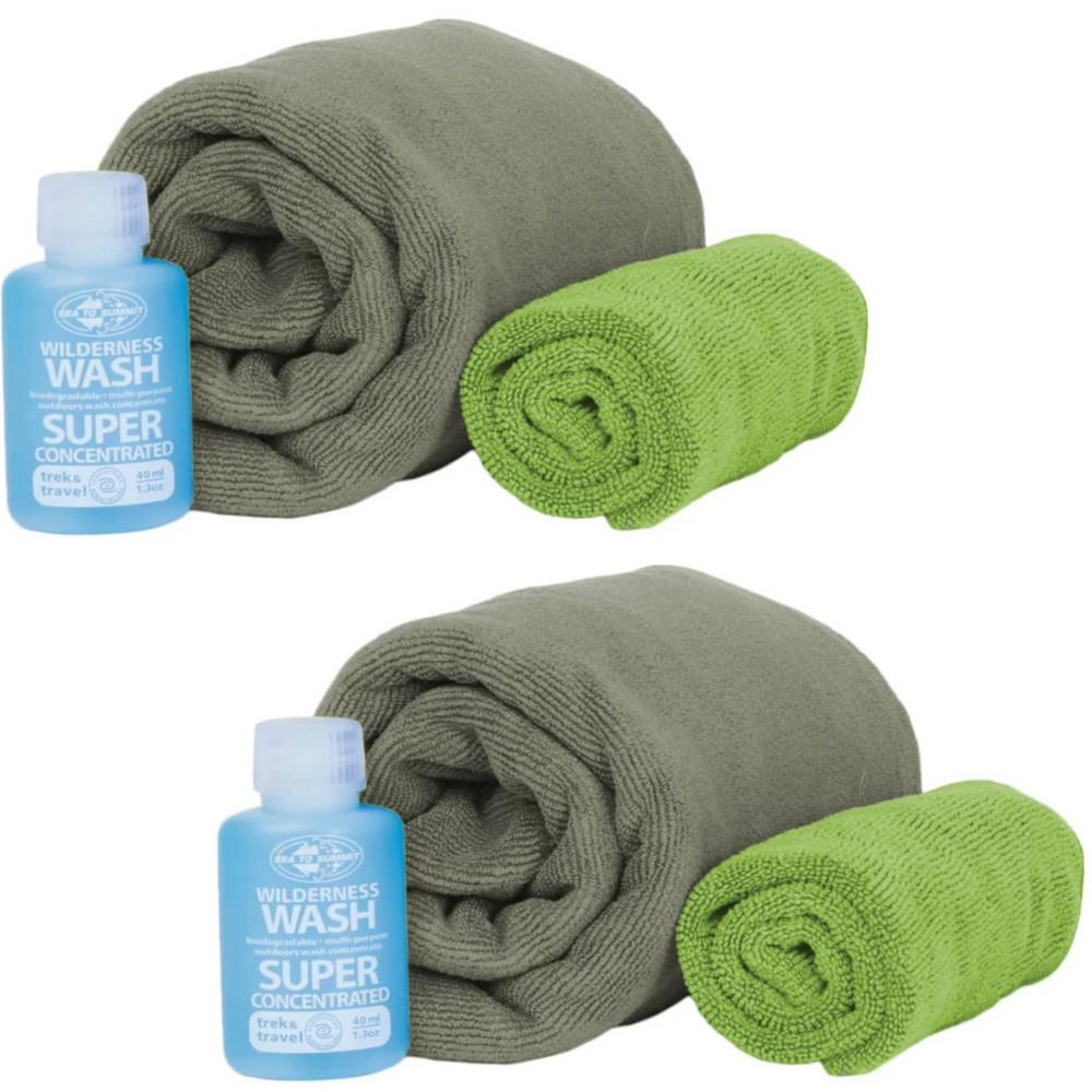 Sea to Summit Tek Towel Medium Wash Kit 2-Pack