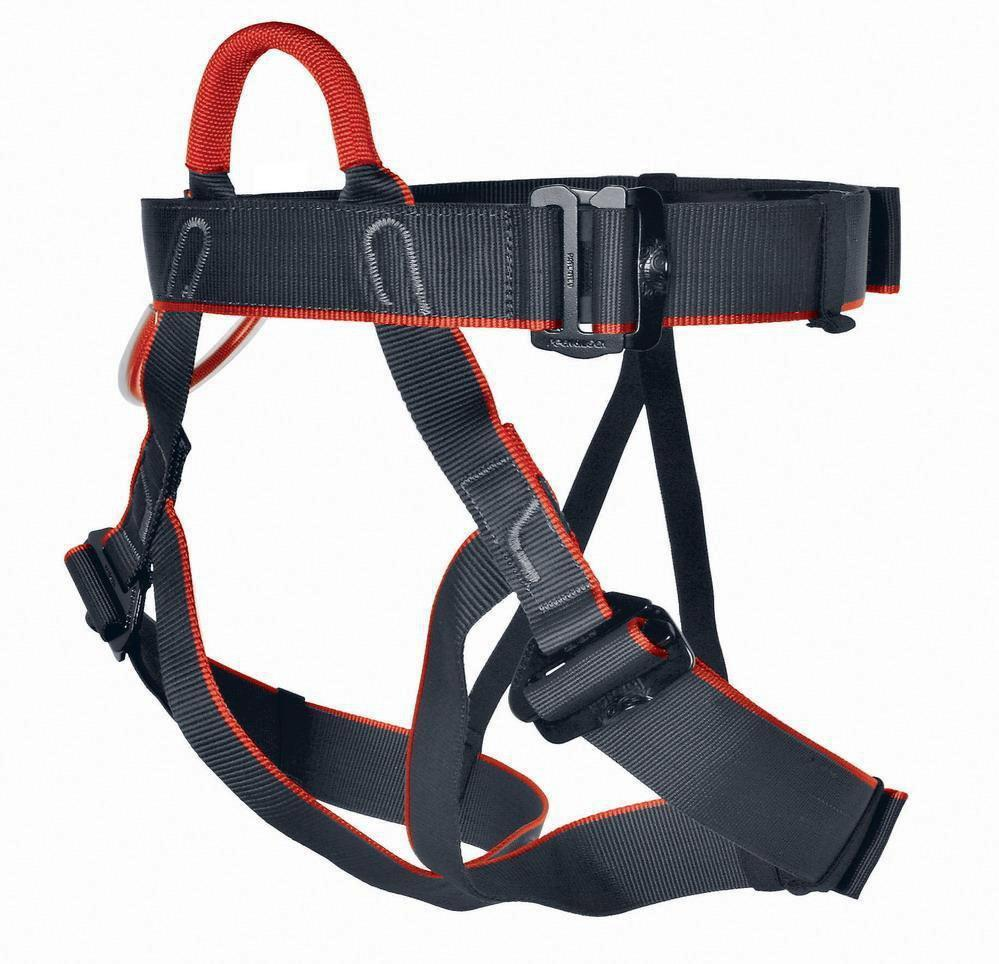 Tendon Jammy climbing Harness, in black and red colours