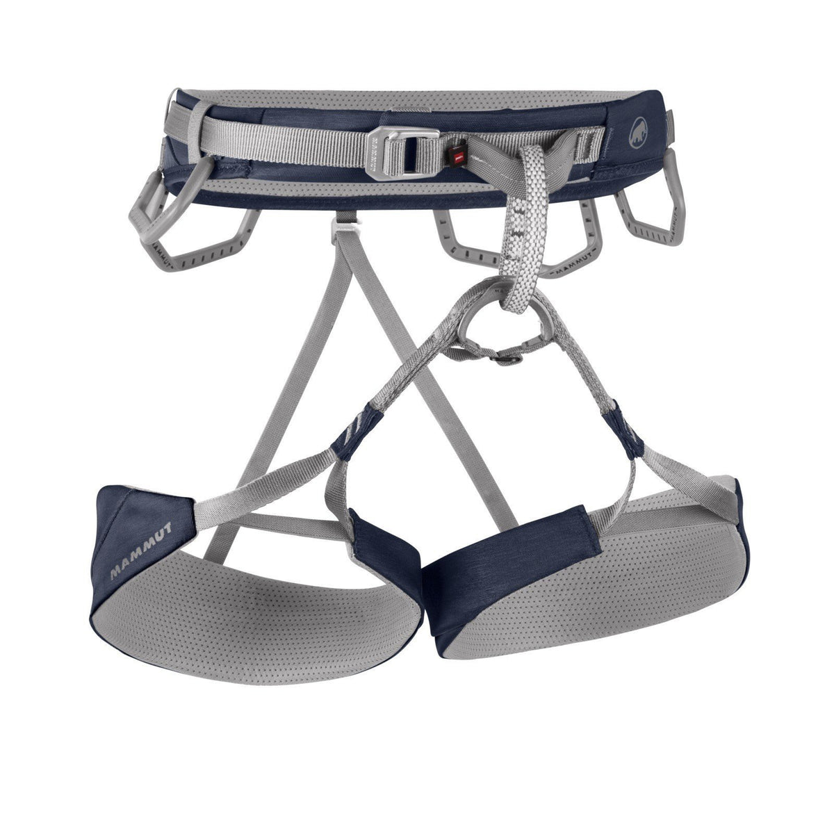 Mammut Togir Harness, front view in denim blue and grey colours