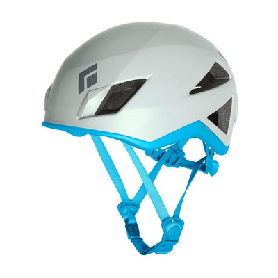 Black Diamond Vector women's climbing helmet, in white and blue colours