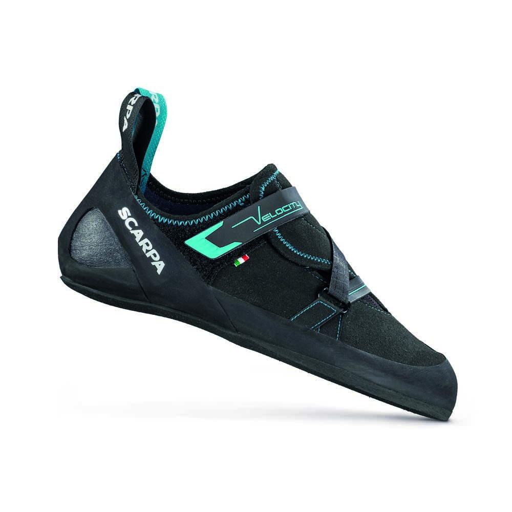 Scarpa Velocity V, outer side view, in Black and Blue colours