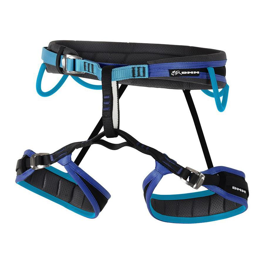 DMM Venture Womens Harness in Turquoise, Navy blue and black
