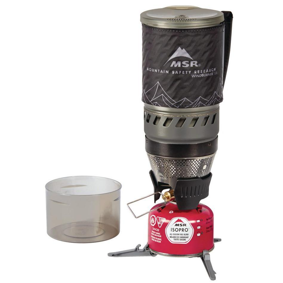 MSR WindBurner 1.0L camping Stove System shown stacked