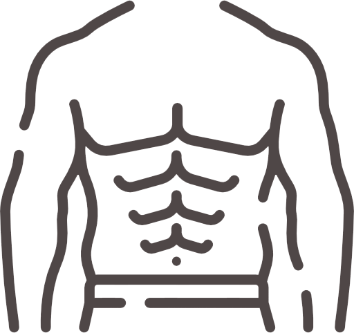 person abs, core training