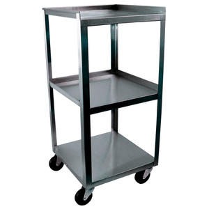 3B Scientific 3 Shelf Stainless Steel Compact Mobile Cart