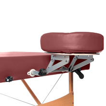 Load image into Gallery viewer, 3B Scientific Deluxe Portable Massage Table burgundy