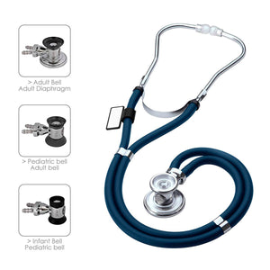 3B Scientific MDF® Sprague Rappaport Dual Head Stethoscope with Adult, Pediatric and Infant Convertible Chestpiece