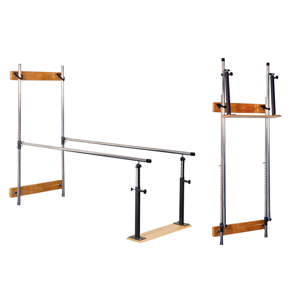 3B Scientific Wall Mounted Folding Parallel Bars - 7 ft