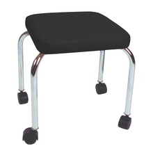 "Load image into Gallery viewer, Mobile Stool with no Back - Square Top 18"" H black"