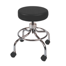 Load image into Gallery viewer, Mechanical Mobile Stool with no Back and Adjustable Height black