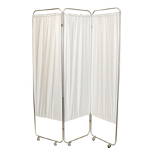 Load image into Gallery viewer, Standard Foldable Privacy Screen with Casters - Vinyl 3 pannel white