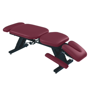 "ErgoBasic™ Treatment Table - Hi-Low 80"" L x 30"" W x 18""-24"" H 6-Section burgundy"