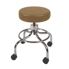Load image into Gallery viewer, Mechanical Mobile Stool with no Back and Adjustable Height camel