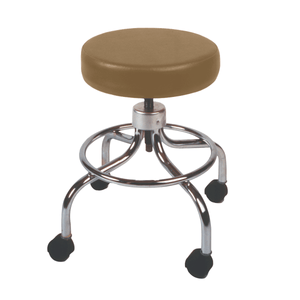 Mechanical Mobile Stool with no Back and Adjustable Height camel