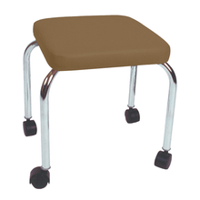 "Load image into Gallery viewer, Mobile Stool with no Back - Square Top 18"" H camel"