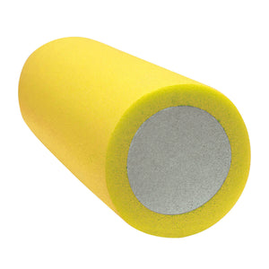 "CanDo® 2-Layer Round Foam Roller - 6"" x 15"" - Yellow - Extra-Soft"