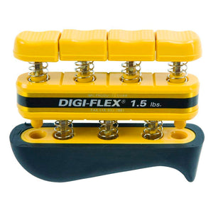 CanDo® Digi-Flex® Hand Exerciser - Set of 5 (yellow through black) - Rack not included yellow