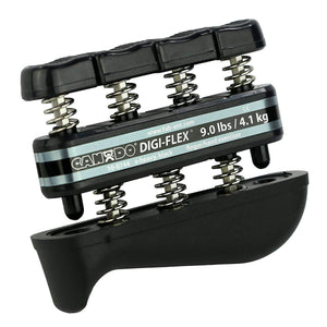 CanDo® Digi-Flex® Hand Exerciser - Set of 5 Rack not included - black
