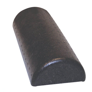 CanDo® Foam High-Density Roller - Black Composite - Extra Firm half round