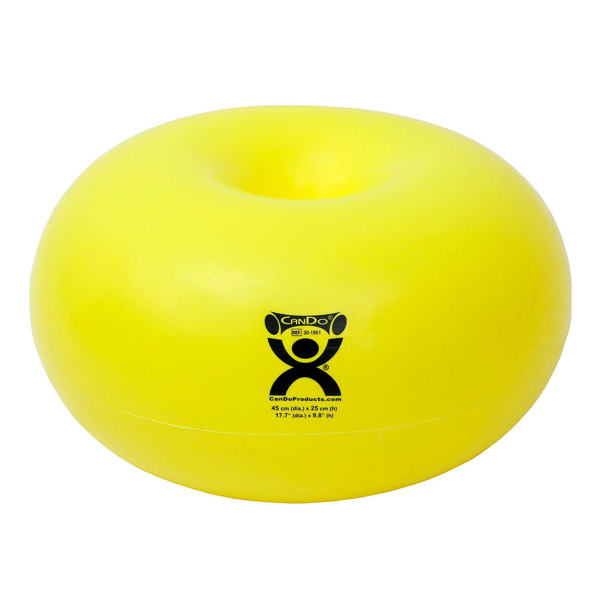 CanDo® Inflatable Donut Exercise Ball yellow