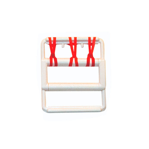 CanDo® Latex-Free Rubber-Band Hand Exerciser with 5 Red Bands