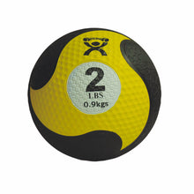 "Load image into Gallery viewer, CanDo® Rubber Firm Medicine Ball - 8"" Diameter - Yellow - 2 lb"
