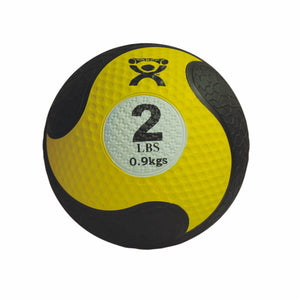"CanDo® Rubber Firm Medicine Ball - 8"" Diameter - Yellow - 2 lb"