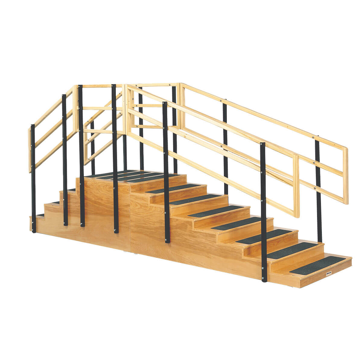 Convertible Training Stairs - 4 and 8 Steps with Platform straight
