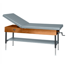 "Load image into Gallery viewer, Wooden Treatment Table - Manual Hi-Low Shelf - 78""L x 30""W x 25""-33""H without drawer dark dove"