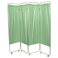 Load image into Gallery viewer, Standard Foldable Privacy Screen with Casters - Vinyl green